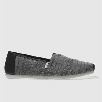 Toms Black & Grey Classic Mens Shoes
