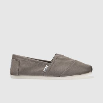 Toms Grey Classic Slip Mens Shoes