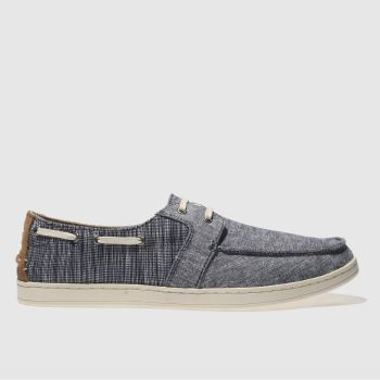 Toms Navy & White Culver Lace Up Mens Shoes