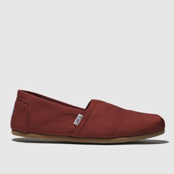 Toms Red Classic Slip Mens Shoes