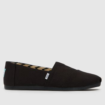 TOMS Black Classic Slip Mens Shoes
