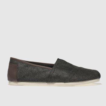 Toms Grey Herringbone Classic Mens Shoes