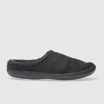 Toms Black & Grey Berkeley Slipper Mens Slippers