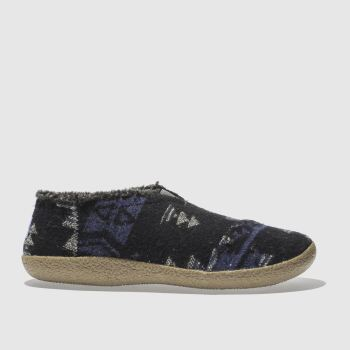 TOMS NAVY & BLACK HOUSE SLIPPER SLIPPERS