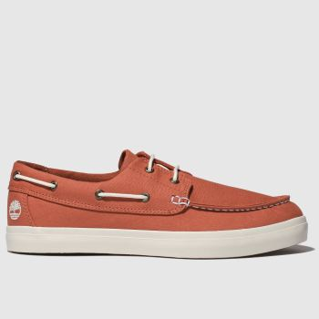 Timberland Red Union Warf 2 Eye Boat Ox Mens Shoes