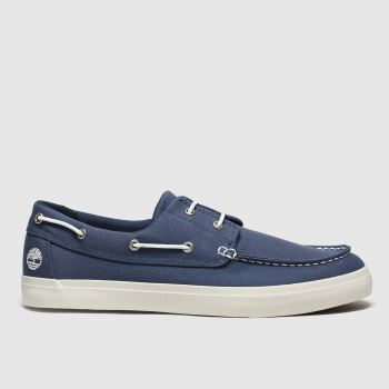 Timberland Navy Union Warf 2 Eye Boat Ox Mens Shoes
