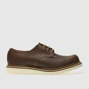 Red Wing Brown Classic Oxford Mens Shoes