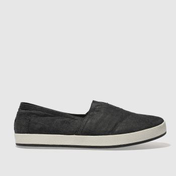 Toms Black Avalon Slip-On Mens Shoes