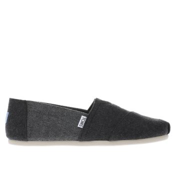 Toms Black Seasonal Classic Mens Shoes