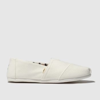Toms White Alpargata Venice Mens Shoes