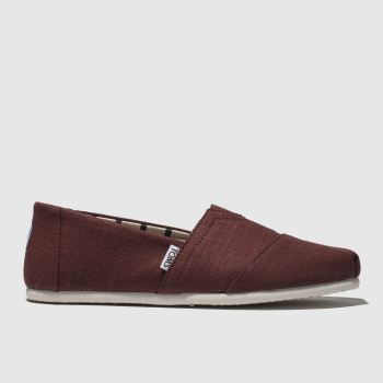Toms Burgundy Alpargata Venice Mens Shoes