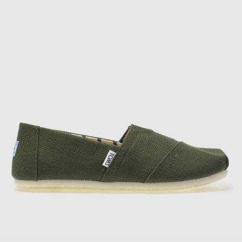 toms dark green alpargata venice shoes