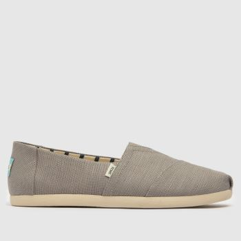 Toms Light Grey Alpargata Venice Mens Shoes#