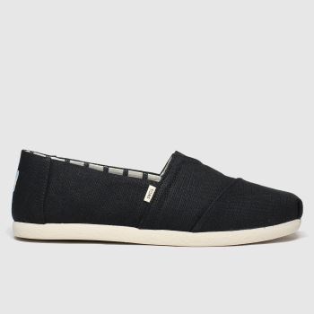 Toms Black & White Alpargata Venice Mens Shoes