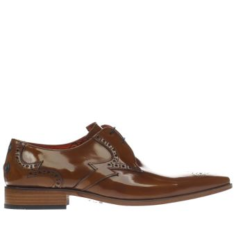 Jeffery West Tan Escobar Bolt Gibson Mens Shoes