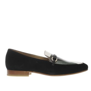 MOMENTUM BLACK & GREEN BOMBAY LOAFER SHOES