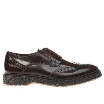 Base London Burgundy Clash Mens Shoes