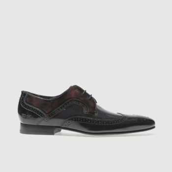 Ted Baker Black & Burgundy Oakke Mens Shoes