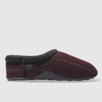 Homeys Burgundy Vic Mens Slippers