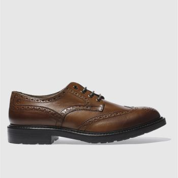 Red Or Dead Tan MR CROOKS BROGUE Shoes