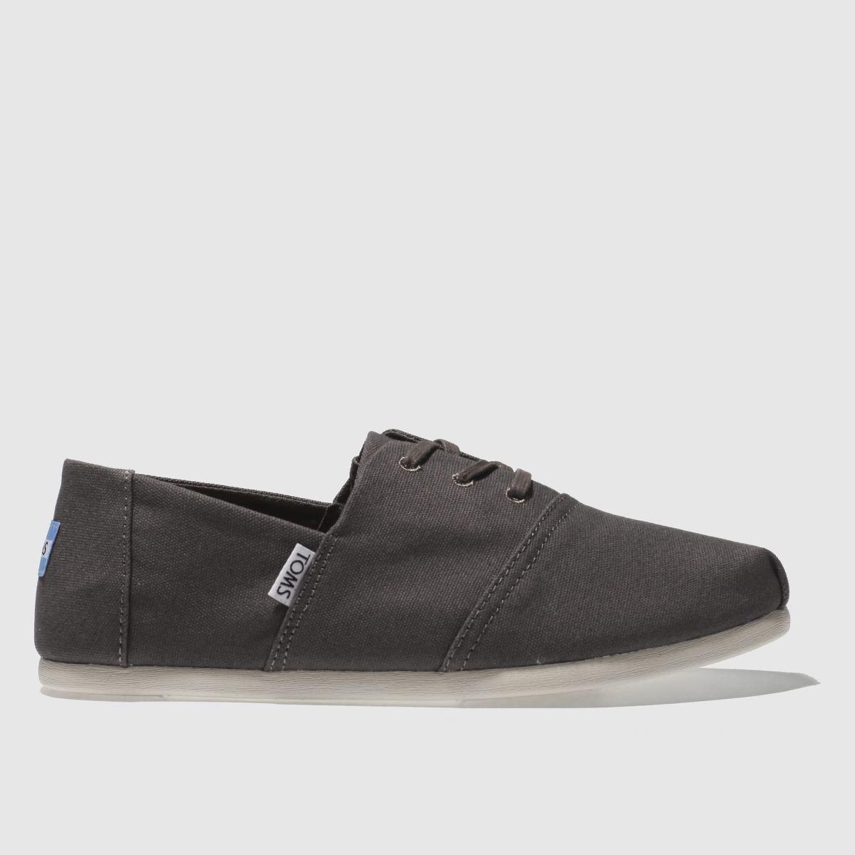 Toms Dark Grey Hermosa Shoes