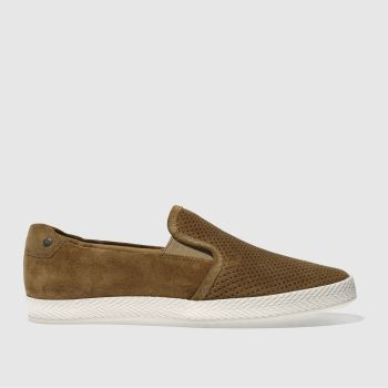 BASE LONDON TAN CLIPPER SHOES