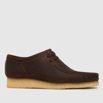 Clarks Originals Dark Brown Wallabee Mens Shoes
