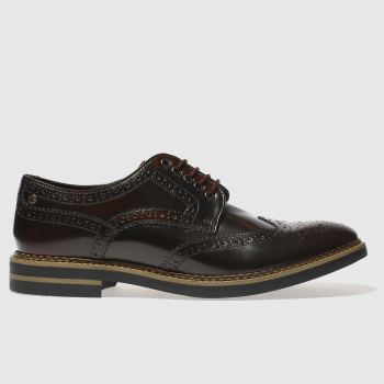 Base London Burgundy Rothko Mens Shoes