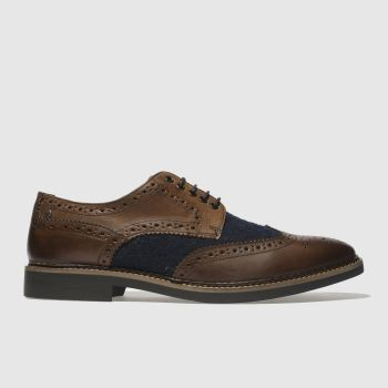 Base London Brown & Navy Rothko Mens Shoes