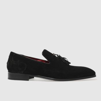 Jeffery West Black Soprano Slip Mens Shoes