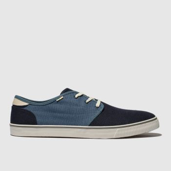Toms Navy & White Carlo Mens Shoes
