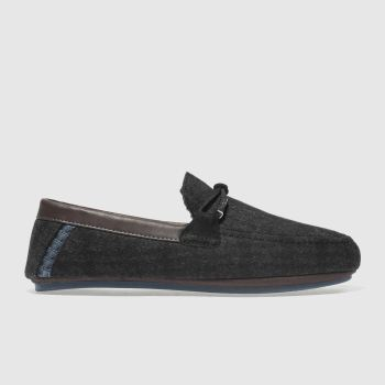 TED BAKER DARK GREY PYTRE SLIPPERS