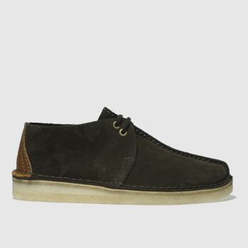 Clarks Originals Dark Green Desert Trek Mens Shoes