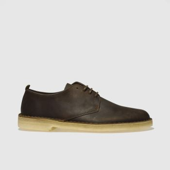 new concept 6247b f6010 Clarks Originals Dark Brown Desert London Og Mens Shoes