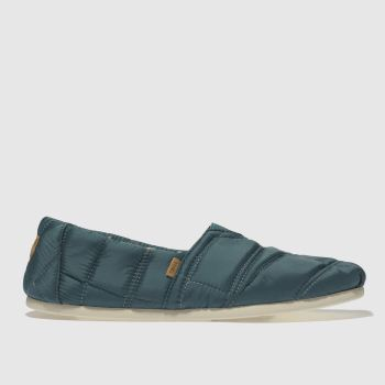 Toms Blue Alpargata Puffa Mens Slippers
