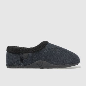 Homeys Dark Grey Tony Mens Slippers