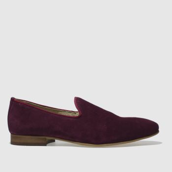 Schuh Burgundy Wicks Slip Mens Shoes