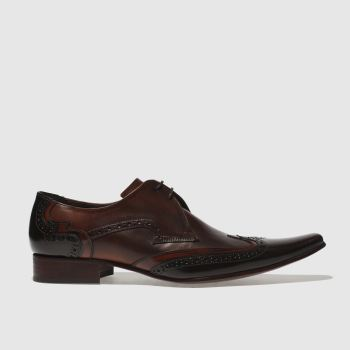 Jeffery West Dark Brown Pino Brogue Mens Shoes