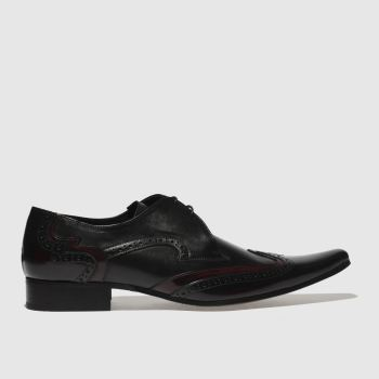 Jeffery West Black Pino Brogue Mens Shoes