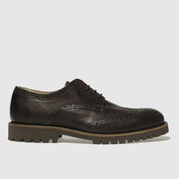 Schuh Dark Brown Bishop Mens Shoes