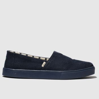 Toms Navy Alpargata Cupsole Mens Shoes