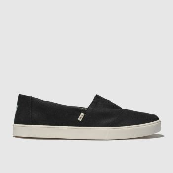 Toms Black Alpargata Cupsole Mens Shoes