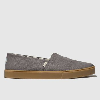 Toms Grey Alpargata Cupsole Mens Shoes