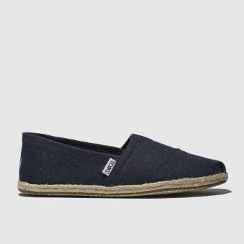 7c32cbfec5e Toms Navy Alpargata Washed Rope Mens Shoes