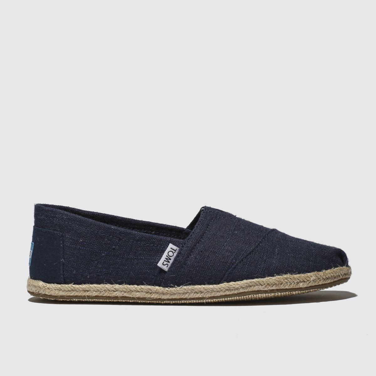 Toms Navy Alpargata Washed Rope Shoes