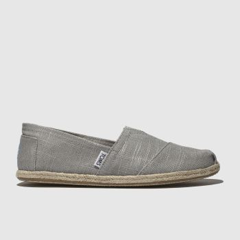 Toms Light Grey Alpargata Washed Rope Mens Shoes