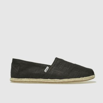 Toms Black Alpargata Washed Rope Mens Shoes