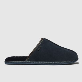 Ted Baker Navy Parick Suede Slipper Mens Slippers