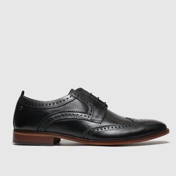Base London Black Motif Mens Shoes
