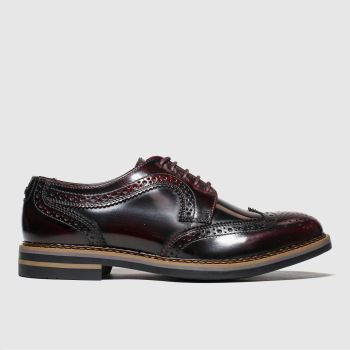 Base London Burgundy Kent Mens Shoes